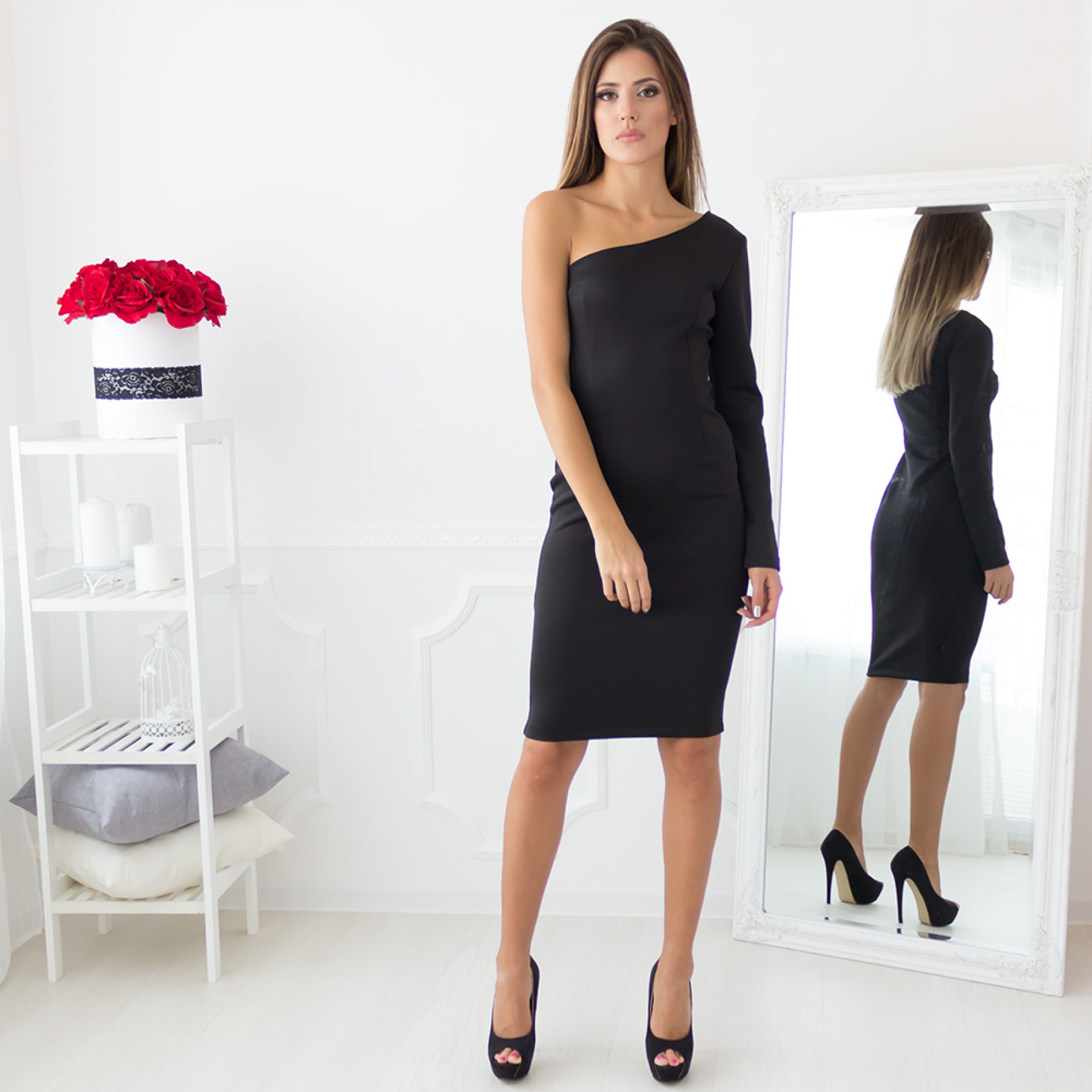Andrea Midi Dress (Black)