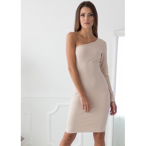 Andrea Midi Dress (Nude)