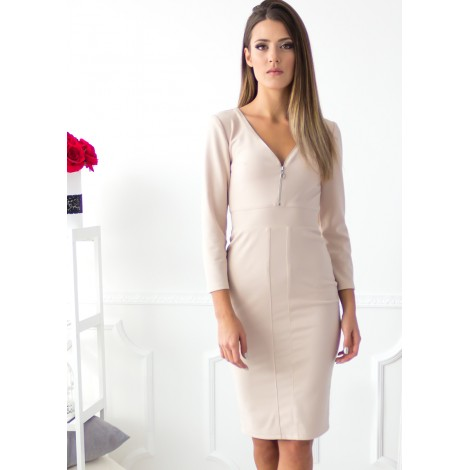 Eclipse Midi Dress (Nude)