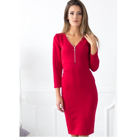 Eclipse Midi Dress (Red)