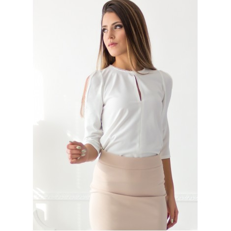 No Questions Blouse (White)