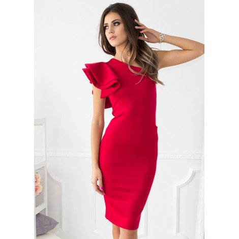 Saturdays Midi Dress (Red)