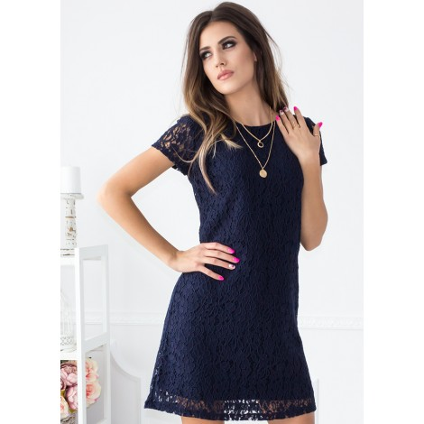 Sweet Angel Mini Dress (Navy)