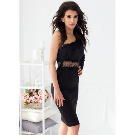 Embassia Midi Dress (Black)