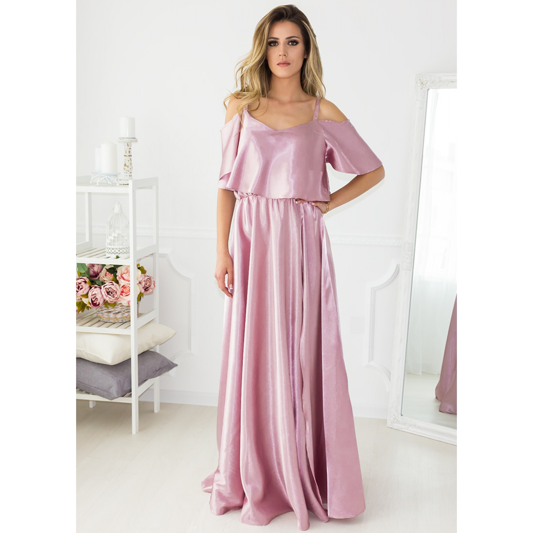 Mermaid Hotel Maxi Dress (Rose)